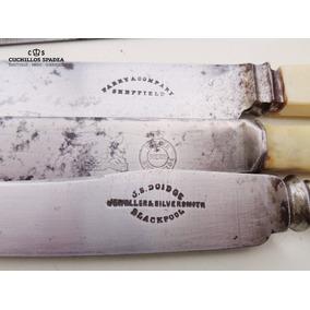 3 Cuchillos Sheffield No Solingen Carbono 100 Años Lote 1