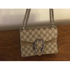 Cartera Gucci Dionysus Gamuza Gg Supreme Mini Bag