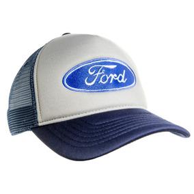 Boné Tela Ford Caminhoneiro Trucker Telinha Bordado Ford 438addaf3a7