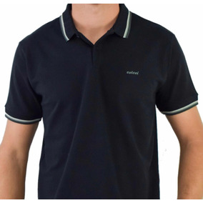 a848bee7f6 Camiseta Polo Colcci Masculina Preta Frisos Colors
