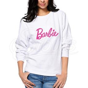 Sudadera Mujer Cuello Redondo Con Diseño Barbie Girl
