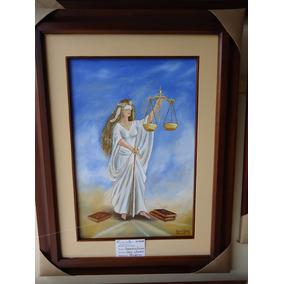 Pintura En Oleo, Dama De La Justicia 2. Autor: Nelson Rojas