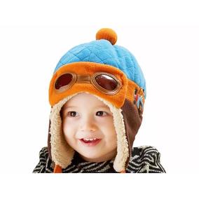 Touca Gorro Aviador Baby Infantil Criança Bebê Algodão 496d351b67a