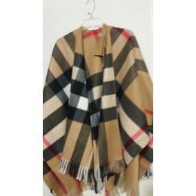 Poncho Burberry Cashmere Beige Clasico Capa