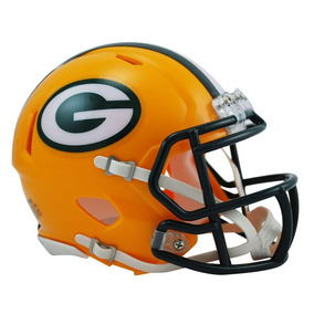 Capacete Riddell Green Bay Packers Miniatura Revolutio Speed