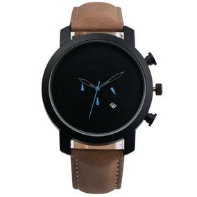 7e6c65601187 Reloj De Moda De Piel Para Hombre Tipo Militar Café