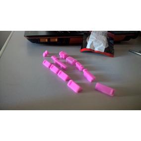 Borrachas Protetoras Silicone Para Portas Notebook ( Rosa )