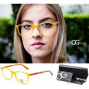 Armação Oculos Ogrife Og 48-b Feminino Acetato Original Og 446d209763
