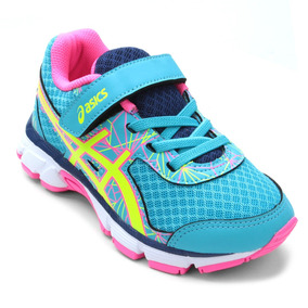 Tênis Infantil Asics Gel-light Play 4 A Ps - Azul Com Rosa