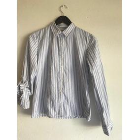 Camisa Para Dama Oldnavy T-16 Blanca Con Rayas Azules b7b9a574d5c89