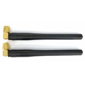 433mhz 3dbi Right Angled Sma Antennas - Black + Golden (2pcs