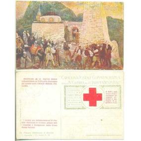 Itália Cartão Postal 4ª Guerra Independência E Cruz Vermelha