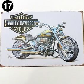 Frete Grátis 4 Placa Cervejaria Moto Chopper Chop Bar Retrô