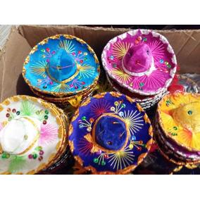10 Sombrero Charro Miniatura Adorno Negro Fiesta Mexicana c0c216a0950