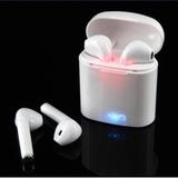 Audifonos Dobles Bluetooth I7 Blancos Manos Libres