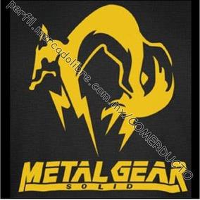 Playera Metal Gear Solid Fox Logo Adelante Vinil Txt Wkas