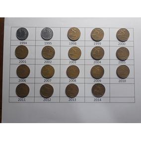 Coleção Moedas 0,25 1994,1995, 1999 A 2014 Frete Grátis M1