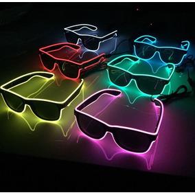 Óculos Neon Led Fumê Festa Balada Rave Tomorrowland A Pilha ff599dc7b02