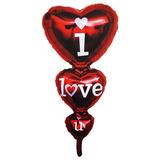 Globo Metalico Te Amo I Love U Corazon 14 Febrero Fiestacl