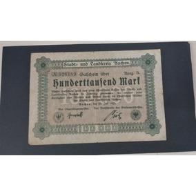 Cédula Estrangeira- Nota Reichsbanknote 100000 Mark 1923
