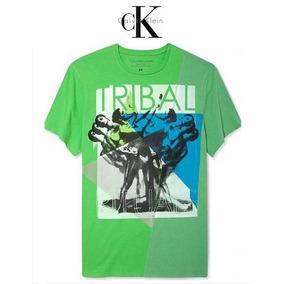 Playera Xxl Calvin Klein Verde Xx Grande Hombre 2xl Original