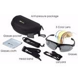 Kit Oculos De Sol Polarizado Rockbros - 5 Lentes - Ciclismo