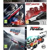 Pack 4 Juegos De Autos Need For Speed ~ Ps3 Digital Español