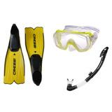 Nadadeira Cressi Rondinella + Mascara Tusa Visio + Snorkel