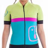 Camisa Ahau Feminina Aussie Verde Jade Neon E Pink Ciclismo d7505d578a278