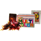 Luz Arroz X 100 Multicolor Con Varios Efectos En Caja