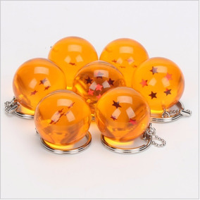 7x Chaveiros Esfera Do Dragão - Dragon Ball Z 2,5cm Diâmetro
