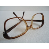 0594d0edbea51 Armação De Óculos Acetado Masculino Marrom Antigo Semi-novo.