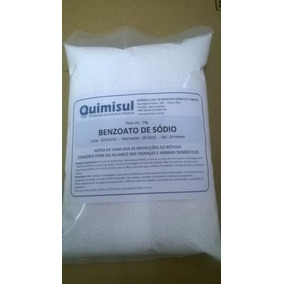 Benzoato De Sódio 5 Kg Alimentício (5 Pacotes De 1kg)
