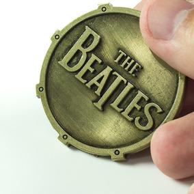 Chaveiro The Beatles Banda Rock Logo Dourado Metal