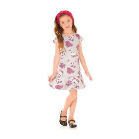 Vestido Infantil Neoprene Mescla Com Faixa - Kukiê a9ee8767cabf