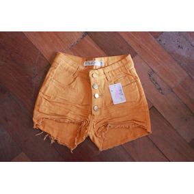 Shorts Jeans Com Lycra Cós Alto Últimas Peças