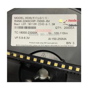 Kit 100x Led Lg 6v 2w 3535 Com Abas P/tv Lg Original Innotek