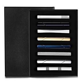 Jstyle 8 Pcs Tie Clips Set Para Hombres Tie Bar Clip Set Pa