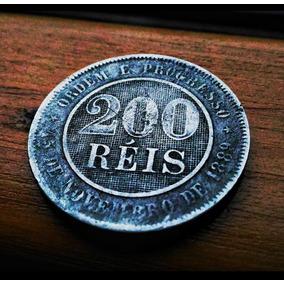 Moeda Antiga - Ano 1894 - 200 Réis