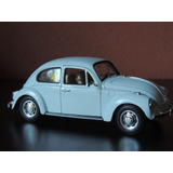 Miniatura Fusca Beetle Branco1:24welly