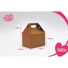 Caja Lonchera Boxlunch Carton Dulces Postres Chica
