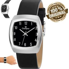 1c20d6d86d1 Relogio Champion Lançamento Quadrado - Relógios no Mercado Livre Brasil