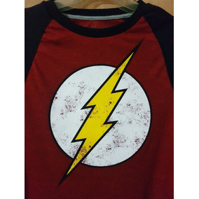 Playera Flash Raglan L/s The Flash And Dc Comics Original