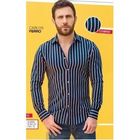 Camisa Manga Larga Rayas P/caballero Cklass 441-52 Pv-19