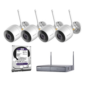 Sistema Ip Inalambrico 1080p 4camaras Con Micro + 1hdd 1tb