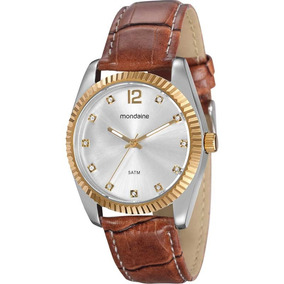 Relógio Mondaine Feminino Couro Sintético Nfe 94259lpmtbr6