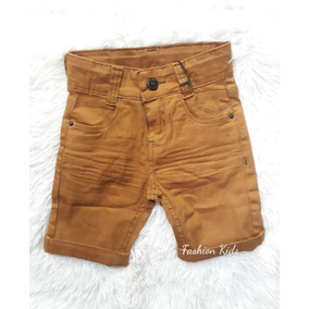 Bermuda Short Jeans Colorido Bebê Menino Lindo 1 Á 12 Meses