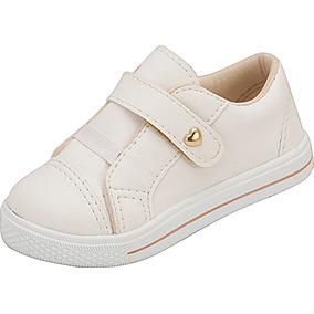 Tênis Infantil Menina Branco Sintético Plis Calçados 440