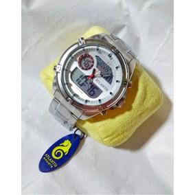Relógio Masculino Aço Prata Atlantis Original Promoçao G3446