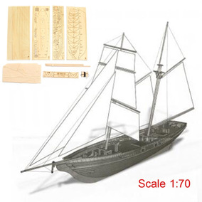 Veleiro Us New Port - 1830 - Madeira Corte Laser - Esc. 1/70